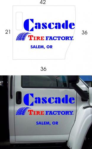 cascade tire pickup door