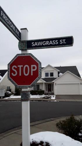 Sawgrass St sandblasted