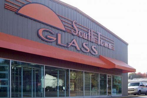 Southtown Glass building dimensional graphics