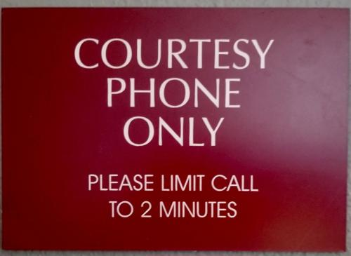courtesy phone